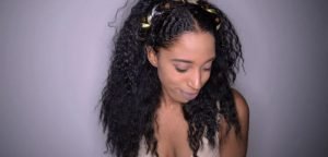 coiffure mariage afro or