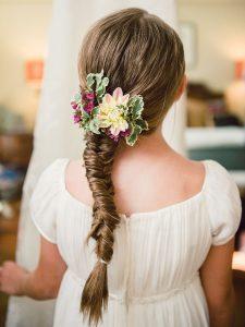 coiffure mariage enfant petite fille boucles