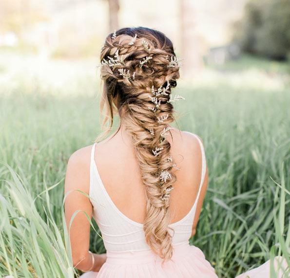 coiffure mariage epi de ble