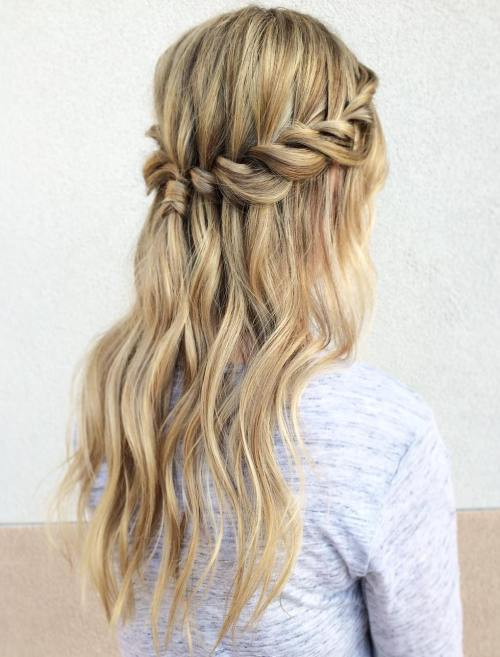 coiffure mariage tresse cascade