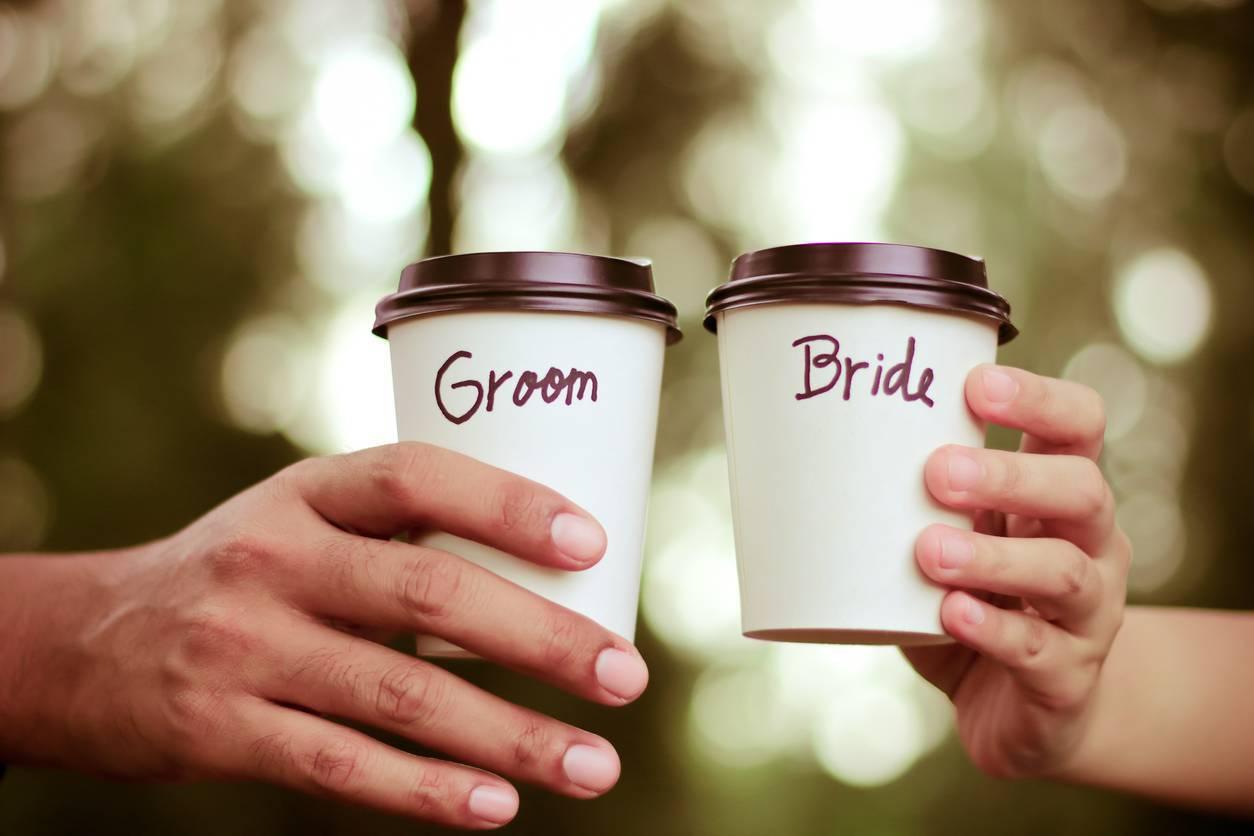 gobelets mariage personnalisables réutilisables
